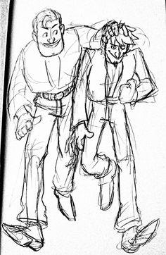Ernesto y Hector de coco Pixar