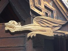 Dragon detail, Stave Church of Gol, Norsk Folkemuseum, Oslo, Norway
