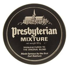 """Presbyterian tobacco originally had no name. It was blended before the first World War especially for the Very Rev. Dr. John White, sometime minister of the Barony Kirk in Glasgow and Moderator of the General Assembly in Scotland in 1929. He introduced it to Stanley Baldwin, later Earl Baldwin, Prime Minister in 1923, 1924 and 1935. He liked it so much that regular supplies were sent down to him and it was he who suggested that it be called """"Presbyterian Mixture""""."""