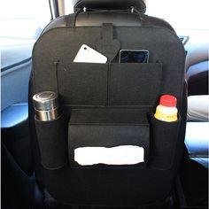 Auto Multi-Pocket Back Seat Storage Bag Car Seat Organizer Holder Car Styling Kicking Mat For Cup Food Phone Storage  Price: 5.73 USD