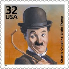 US Stamp - Celebrate the Century Born on April Charlie Chaplin first assumed his famous costume for the Little Tramp in The clothes, mustache, cane, and walk came to identify one of the most familiar icons in the history of film. Postage Stamp Design, Postage Stamps, Charlie Chaplin, Charles Spencer Chaplin, Art Postal, Vevey, Old Stamps, Silent Film, Stamp Collecting
