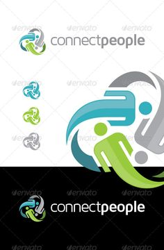 Connect People Logo ...  brand, business, charity, color, colorful, communication, community, connect, connecting, connection, group, human, internet, logo, network, people, social, social network, unite, united, unity