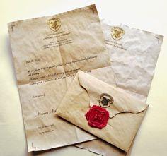 """""""Dick und schwer war der Umschlag, aus geblichen Pergament, und die Adresse war mit smaragdgrüner Tinte geschrieben. Eine Briefmar..."""