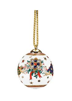 Love to have this Versace ornament on my Christmas tree!
