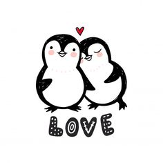 Find Penguin Love Illustration Doodle Cute Animals stock images in HD and millions of other royalty-free stock photos, illustrations and vectors in the Shutterstock collection. Penguin Art, Penguin Love, Cute Penguins, Pinguin Illustration, Cute Animal Illustration, Cute Couple Cartoon, Cute Love Cartoons, Kissing Drawing, Love Doodles