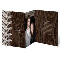 romantic finish wedding invitation   rustic photo wedding invites   Invitations by Dawn at Invitations By Dawn