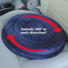 Drive Medical Deluxe Swivel Seat Cushion - memory foam - blue