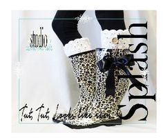 Leopard rain boots women | Cheetah cute tall rubber boots | rain ...
