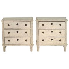 19th Century Pair of Swedish Gustavian Chests | From a unique collection of antique and modern commodes and chests of drawers at https://www.1stdibs.com/furniture/storage-case-pieces/commodes-chests-of-drawers/