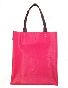 DNA Raspberry Leather Tote Bag  on Milla Grace £180