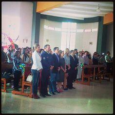 Gobierno Municipal presente en la celebración de la Santa Misa #Lecheria #21Aniversario - @lecheria- #webstagram