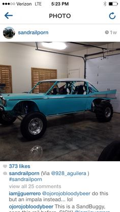 Sick something different Custom Muscle Cars, Custom Cars, Off Road Buggy, 1957 Chevy Bel Air, Sand Rail, Trophy Truck, Sand Toys, 4x4, Lifted Chevy Trucks