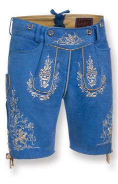 Short traditional leather trousers Bruce royale short.