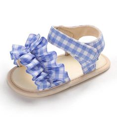 Made of soft cotton fabric with an adorable ruffle design, the Louise sandals are the perfect addition to your babys wardrobe. Featuring a soft-sole to provide protection for your little ones feet and a safe grip. Available in pink, blue, and red. Puma Kids Shoes, Boys Running Shoes, Kid Shoes, Girls Shoes, Cute Baby Shoes, Baby Boy Shoes, Toddler Shoes, Cute Baby Clothes, Little Girl Shoes