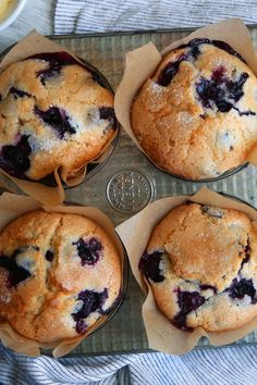 """This recipe came to The Times in a 1987 article by Marian Burros, """"The Battle of the Blueberry Muffins."""" Two years prior, Ms Burros wrote about a recipe for the muffins attributed to the Ritz-Carlton in Boston The hotel had adapted a recipe used by Gilchr Jordan Marsh Blueberry Muffin Recipe, Best Blueberry Muffins, Blue Berry Muffins, Blueberry Recipes For Two, Blueberry Muffins From Scratch, Blueberries Muffins, Cranberry Muffins, Scones, The Best"""