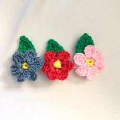 A personal favorite from my Etsy shop https://www.etsy.com/listing/232593889/crochet-flower-appliques-flower
