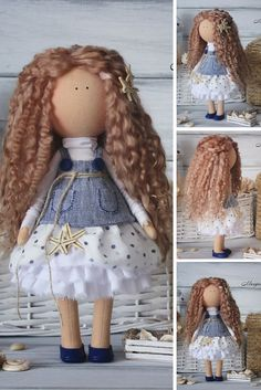 American girl doll handmade Tilda doll Collectable doll Decor doll Art doll Interior doll by Master Margarita Hilko