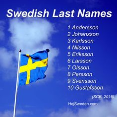 (Latest update: March 2017) One third of all Swedish surnames end with –son. Svensson, Johansson, Gustavsson belong to the most common last names in Sweden. (Source: SCB.) Those names are so common, that you can expect to ... Read more