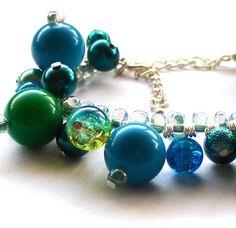 Turquoise Beaded Bracelet by beadingshaz on Etsy, £10.00