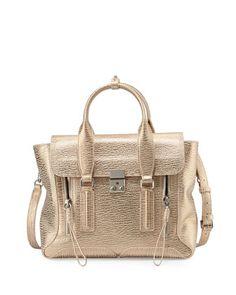 Pashli Medium Satchel Bag, Nude/Platinum by 3.1 Phillip Lim at Neiman Marcus.