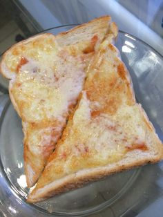 Cheese on toast with chilli sauce fantastic!