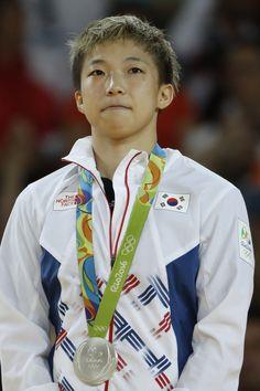 WOMEN'S JUDO:  Silver medalist, Jeong Bokyeong of Korea