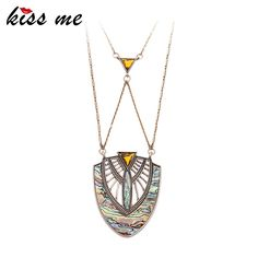 Newest Arrival Product Nation Pattern Shape Shell Paper Hollow India Style Necklace
