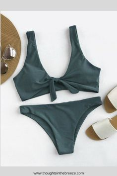 $11.00 Bow Tie Front Scoop Back Bikini Set swimsuit. Looking for the perfect swimsuit, bikini, one piece or tankini- check out the great selection for summer or springbreak! Swimsuits for those who are modest, curvy, sporty, moms, or teens, they have flattering swimsuits for any body shape. #bikini, #swimsuits, #tankini, #onepiece, #summerfun, #affiliate, #summerfashion, #fashion, #springbreak, #2018, #goals