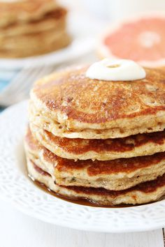 Whole Wheat Zucchini Pancakes | Two Peas and Their Pod