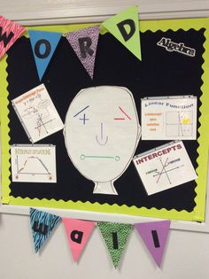 The Algebra Bulletin Word Wall at South