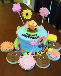 Cake And Sugar Cookies Inspired By Dr Seusss Classic The Lorax