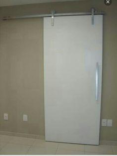 Porta de roldana linda banheiro