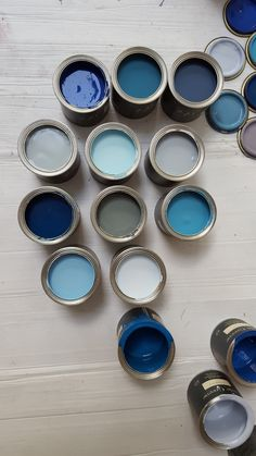 Little Greene shades of blue Colour Pallete, Colour Schemes, Flat Interior, Interior And Exterior, Dark Blue Bedrooms, Colorful Interiors, Blue Interiors, Little Greene Paint Company, Interior Design Inspiration
