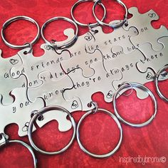 Hand stamped friendship keychains stamped by InspiredByBronx, $100.00