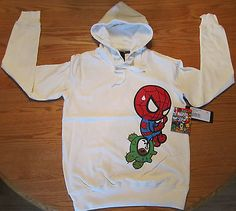 Tokidoki x #marvel comics spider-man & #bastardino ladies #hoodie size small whit,  View more on the LINK: 	http://www.zeppy.io/product/gb/2/291791802135/