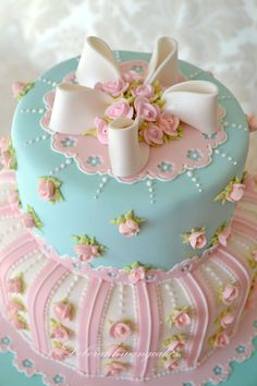 THIS cake for a girls birthday or Tea party. Or if it's a girl it matches the Pottery Barn Bedding I have picked out :)