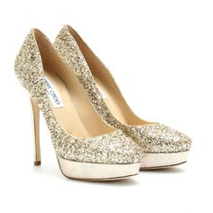 Jimmy Choo glitter wedding shoes. That's it. No exceptions or other considerations.