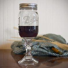 Redneck wine glass...love it! Haha