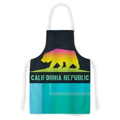 California by Fimbis Multicolor Artistic Apron | Wayfair