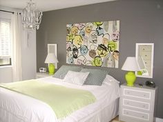 Jennifer's Home Tour on Apartment Therapy shows her personal touch in DIY IKEA fabric wall art and RAST dresser!