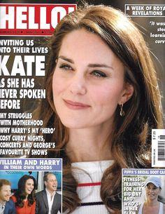 Hello magazine Kate Middleton Prince William and Harry Victoria Beckham Swimsuit