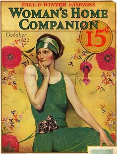 Woman's Home Companion cover by Neysa McMein, October 1922 Old Magazines, Vintage Magazines, Vintage Ads, Vintage Images, Vintage Posters, Vintage Ephemera, Vintage Paper, Vintage Prints, Magazin Covers