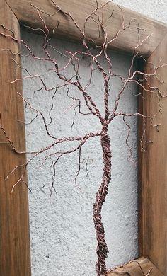 Copper Wire Tree by The Stone Art Gallery... www.thestoneartgallery.com facebook: The Stone Art Gallery