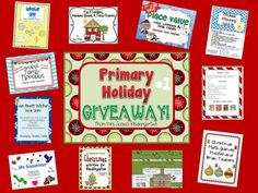 2 Holiday Giveaways!  Over 20 Primary products from Teachers Pay Teachers sellers!