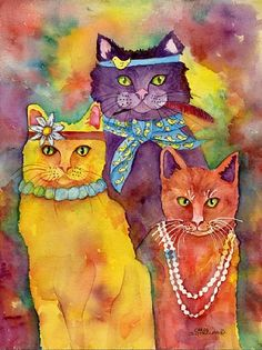 cat art by Chris Sutherland