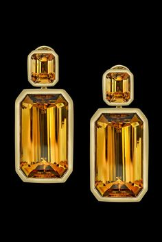 Citrine Tablet earrings from Angelina Jolie's Style of Jolie jewelry collection with Robert Procop
