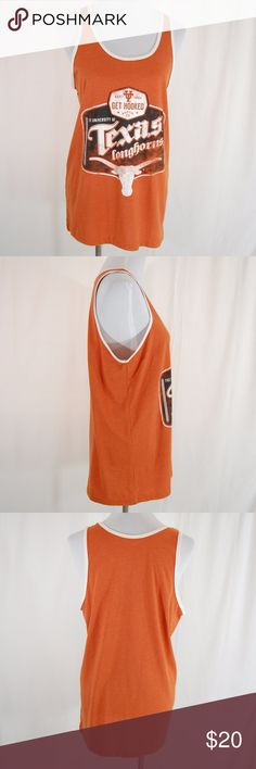 NWOT: UT Longhorns Unisex Tank Top Can be worn by men or women - Size Medium for Men and Large(ish) for Women. Medium weight fabric.   University of Texas (UT) Longhorns. Represent the best team ever with this burnt orange tank! Hook em!  Excellent condition - never worn. ProEdge by Knights Apparel Shirts Tank Tops