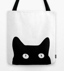 black cat tote