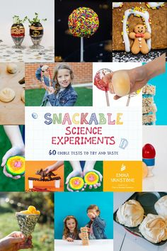 Awesome kitchen science book for kids. 60 edible experiments and investigations perfect for kids to explore and learn in the kitchen #scienceforkids #sciencebook Science Books, Science Experiments Kids, Science For Kids, Activities For Kids, Crafts For Kids, Kitchen Science, Sour Candy, Stem Projects, Awesome Kitchen