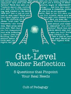 The Gut-Level Teacher Reflection: 8 Questions that Pinpoint Your Real Needs - It's easy to find good questions for reviewing accomplishments and setbacks, but to learn as much as possible from a reflection on your teaching, you have to let your gut talk, too.